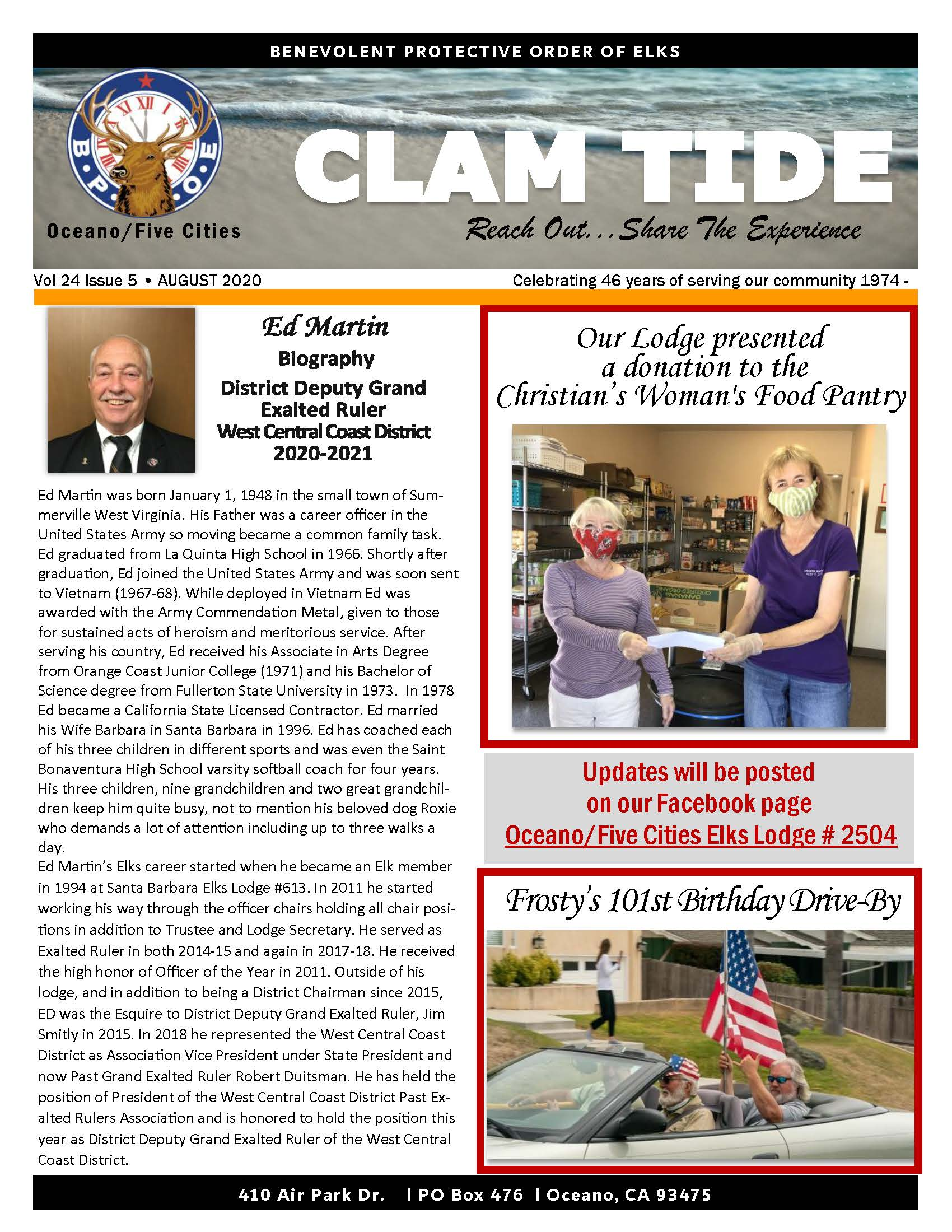 CLAM TIDE - JULY 2020