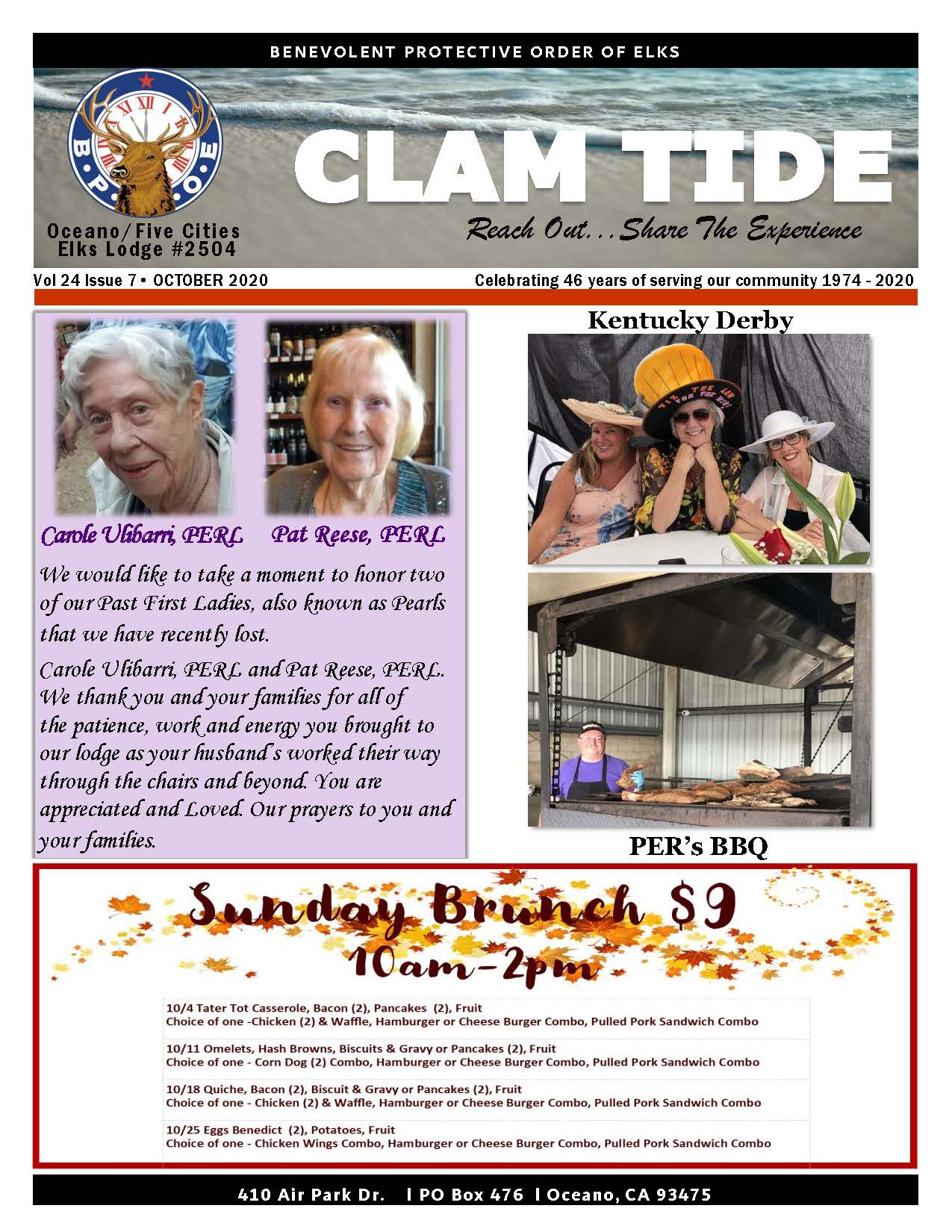 CLAM TIDE - OCTOBER 2020