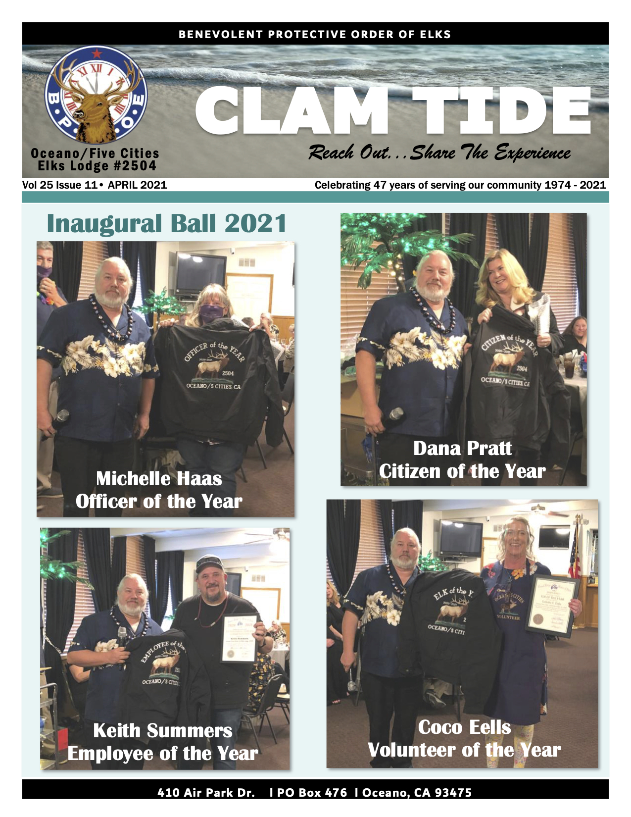 CLAM TIDE - MARCH 2021